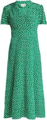 Morgan HVN flower-print silk dress