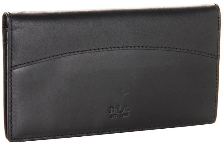 Lauren Ralph Lauren Dorian Vachetta Slim Wallet (Black) - Bags and Luggage