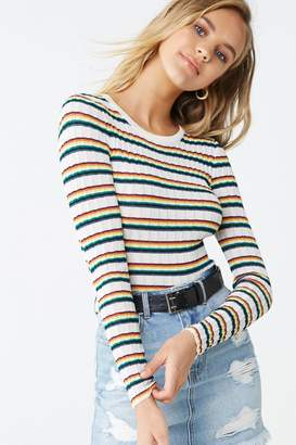Forever 21 Ribbed Striped Top