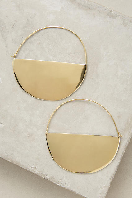 Lena Bernard Half Moon Hoop Earrings
