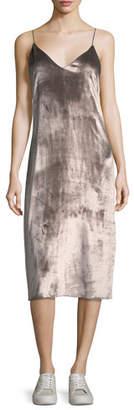 Rag & Bone Parker V-Neck Velvet Midi Slip Dress