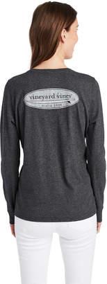 Vineyard Vines Long-Sleeve Surf Logo Fill Pocket Tee