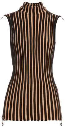 Edun Sleeveless wide-ribbed wool-blend tunic top