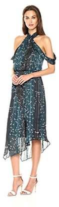 Rachel Roy Women's Flowy Cold Shoulder Printed Dress