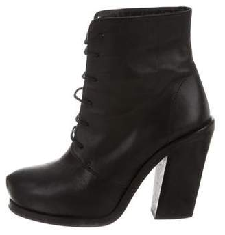Surface to Air Leather Lace-Up Booties