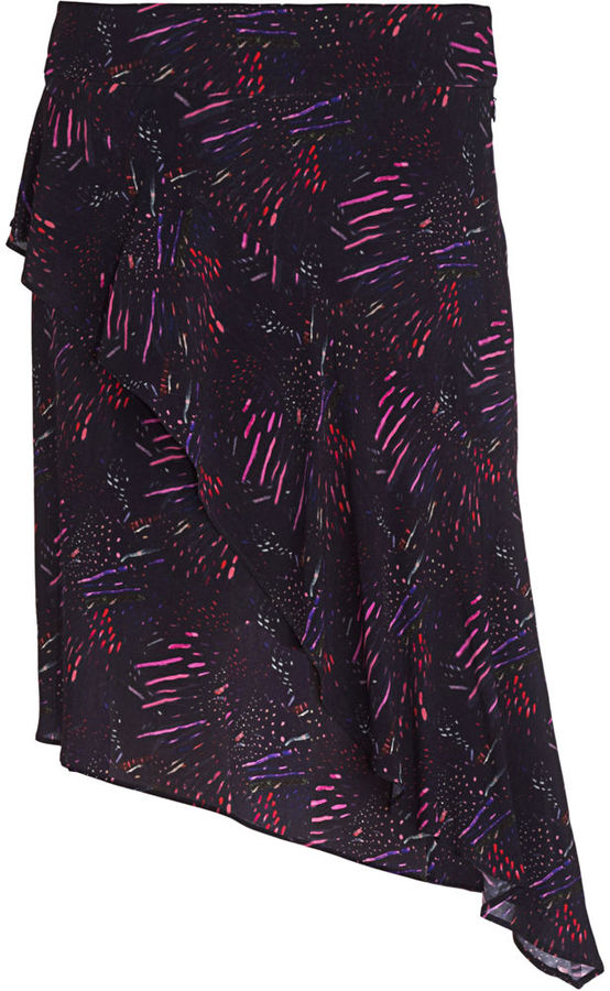 Richard Chai Love Asymmetric Flounce Skirt
