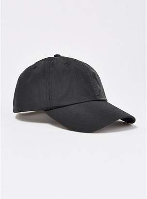 Topman Mens Nylon Mix Panel Curve Peak Cap in Black