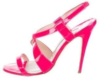 Manolo Blahnik Patent Slingback Sandals