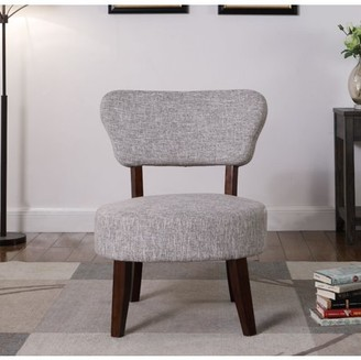 Nathaniel Home Round Seat Accent Chair, Gray-White