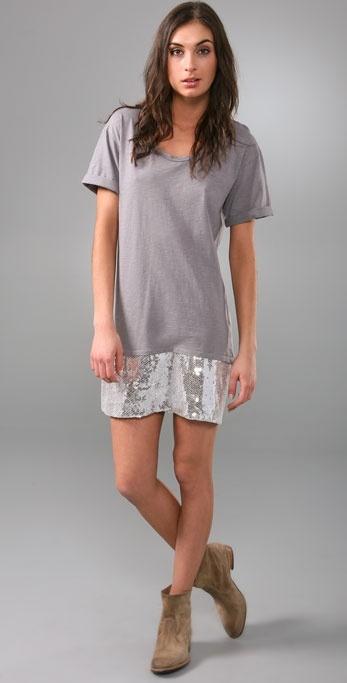 Aka New York Sequin T Shirt Dress