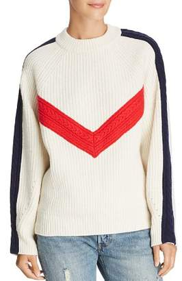 Sjyp Color-Blocked Wool Sweater