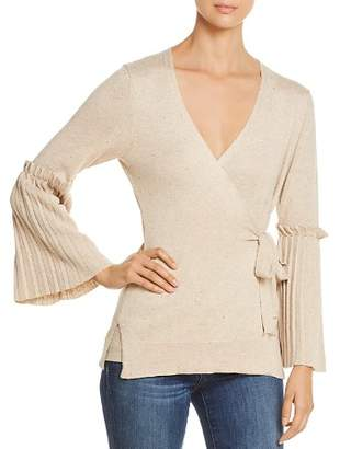 Heather B V-Neck Bell-Sleeve Sweater