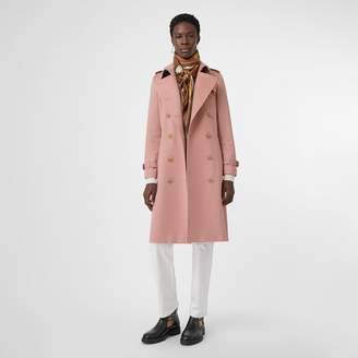 Burberry Cashmere Trench Coat , Size: 06, Pink