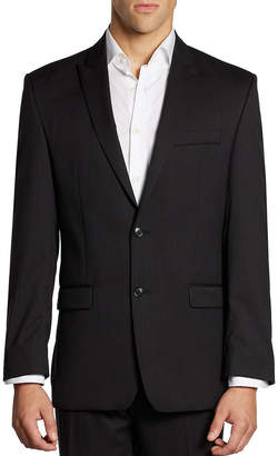 Calvin Klein Classic-Fit Pinstriped Wool Jacket