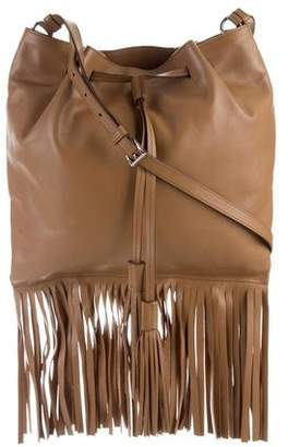 Prada Soft Calf Fringe Drawstring Bag