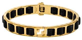 Fendi Leather Fendista Hinge Bangle