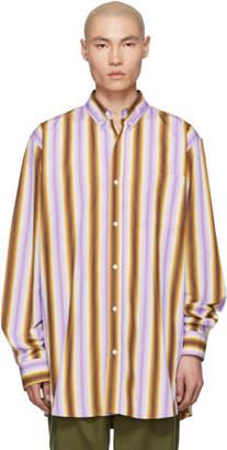 Marni Purple and Brown Degrade Stripe Shirt