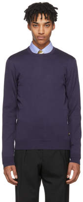 Versace Navy Fine Gage Sweater