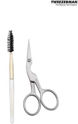 Tweezerman Brow Shaping Scissors & Brush - Nude