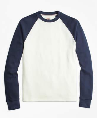 Brooks Brothers Waffle-Knit Cotton Baseball Shirt