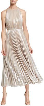 Jill Stuart Ashley Metallic Pleated Gown