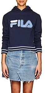 Fila Women's Logo Cotton-Blend Fleece Hoodie - Blue