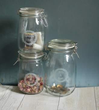 At Notonthehighstreet Hunter Gatherer Bits And Bobs Personalised Gl Preserving Storage Jar