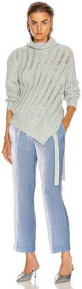 Sies Marjan Nancy Cashmere Turtleneck Sweater in Blue Mint Melange | FWRD