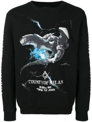 Marcelo Burlon County of Milan logo dragon print sweatshirt
