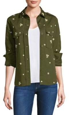 Joie Hayfa Embellished Fatigue Shirt