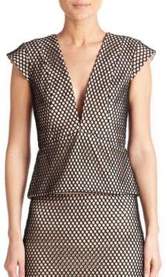 Mason by Michelle Mason Mesh Peplum Top