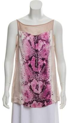 Just Cavalli Silk Sleeveless Top