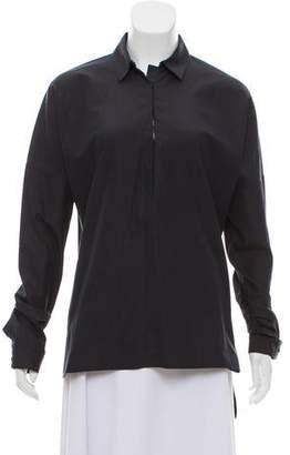 Calvin Klein Collection Pointed Collar Long Sleeve Tunic