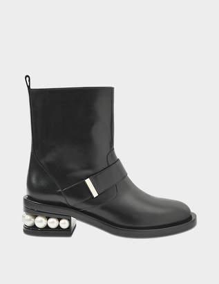 Nicholas Kirkwood Casati Pearl Biker ankle boots