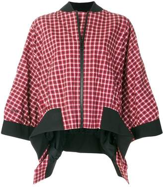 Fendi plaid flared jacket