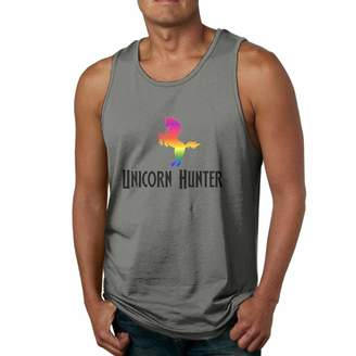 Hunter TQSff66 Unicorn Men's 100% Cotton Tank Top Tshirt DeepHeather