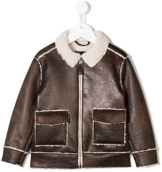 Il Gufo faux leather jacket