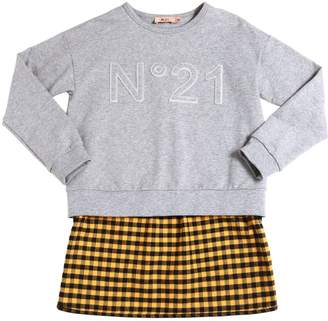 N°21 Cotton Sweatshirt W/ Flannel