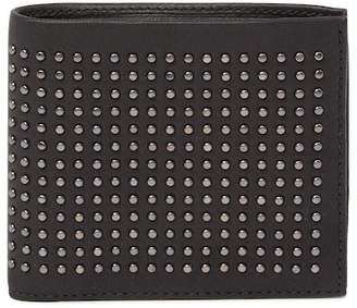 BOSS Uskil Studded Leather Bifold Wallet