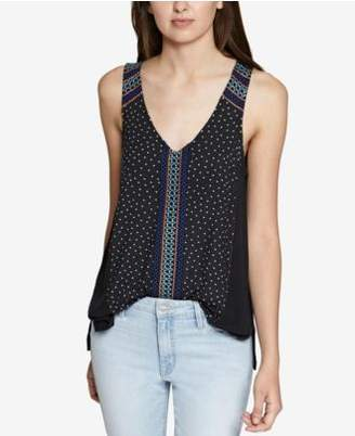 Sanctuary Kira Embroidered Cotton Tank Top