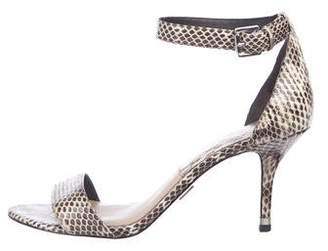 Michael Kors Snakeskin Ankle Strap Sandals