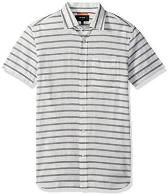 Jack Spade Men's Berber Strip Short Sleeve Poplin Shirt