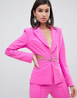 Forever Unique cut out suit blazer