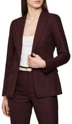 Reiss Lissia Textured Wool Blend Suit Jacket