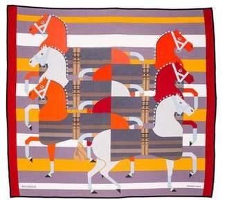 Hermes Rocabar Silk Jersey Scarf