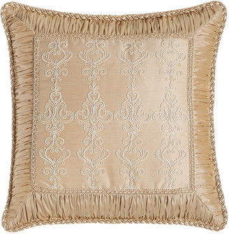 """Sweet Dreams Elizabeth Lace Pillow with Ruched Border, 19""""Sq."""