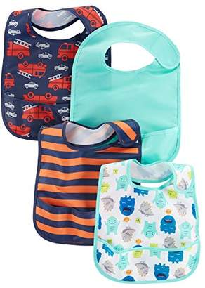 Carter's Simple Joys by Baby Boys' 4-Pack Feeder Bibs