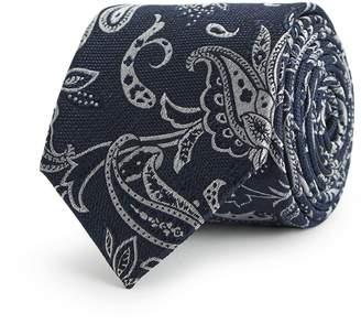 Reiss Warp Paisley Silk Tie