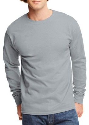Hanes Mens Tagless Cotton Crew Neck Long-Sleeve Tshirt