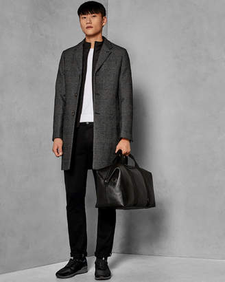Ted Baker FETA Check wool coat with detachable inner layer